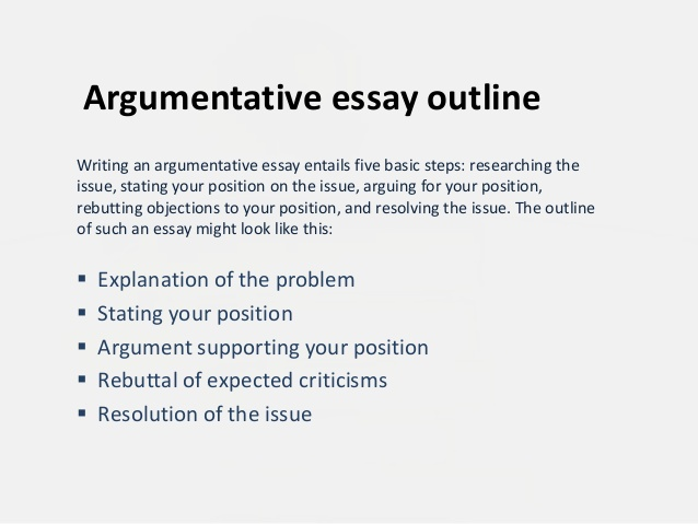 How to start off an argumentative essay?